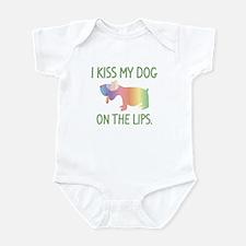 I Kiss My Dog On The Lips Infant Bodysuit