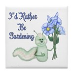 Gardening Caterpillar Tile Coaster