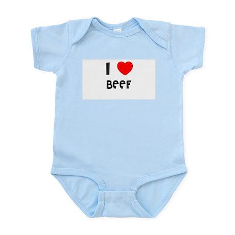 I LOVE BEEF Infant Creeper