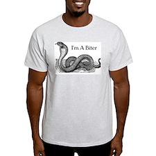 I'm a biter cobra snake Ash Grey T-Shirt