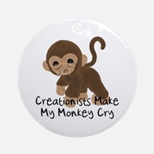 Crying Monkey Ornament (Round)