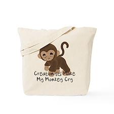Crying Monkey Tote Bag