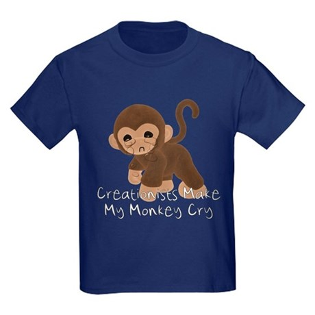 Crying Monkey Kids Dark T-Shirt