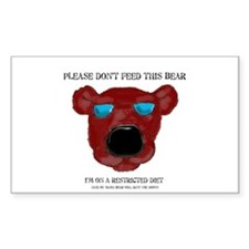 Don't Feed This Bear #3 Rectangle Decal