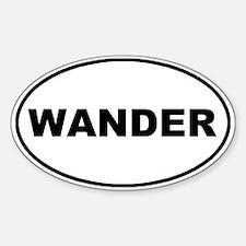 Wander Oval Oval Stickers