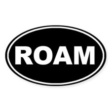 Roam Black Oval Oval Decal