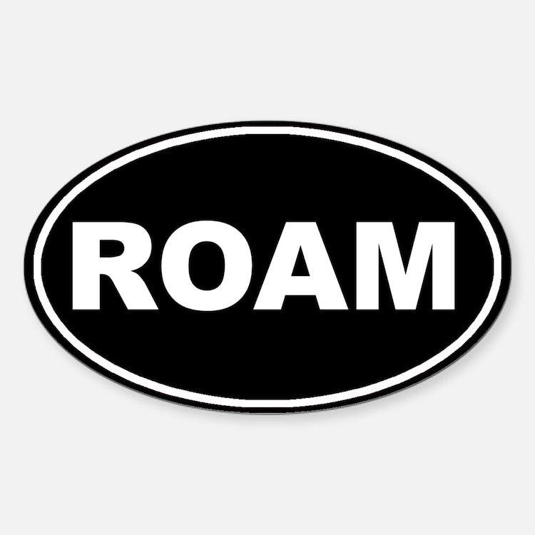 Roam Black Oval Oval Decal