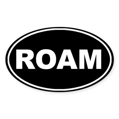 Roam Black Oval Oval Sticker