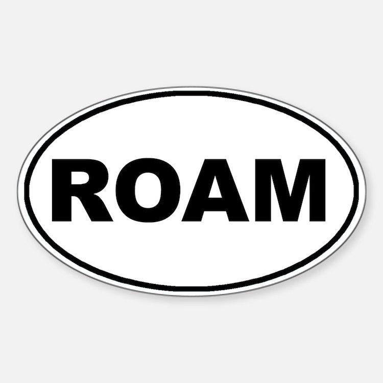 Roam Oval Oval Decal