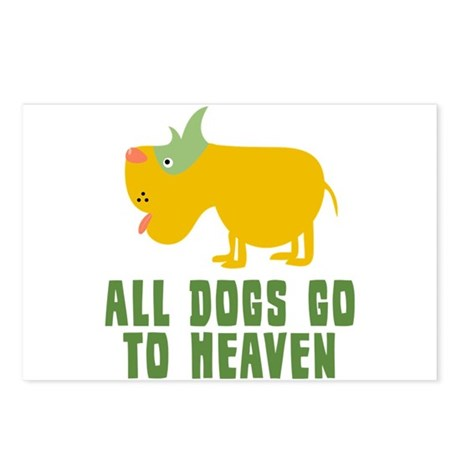 All Dogs Go To Heaven Postcards (Package of 8)