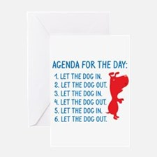 Agenda For The Day Greeting Card