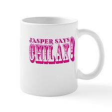 Jasper Says Chilax (rustic) pink Mug