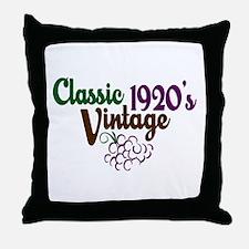 Vintage 1920's Birthday Throw Pillow