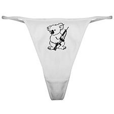 Koala (Black) Classic Thong