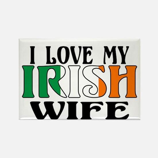 I Love My Irish Wife Rectangle Magnet