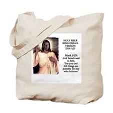 King Obama Bible Tote Bag