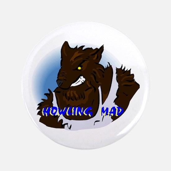 Howling Mad Werewolf Button