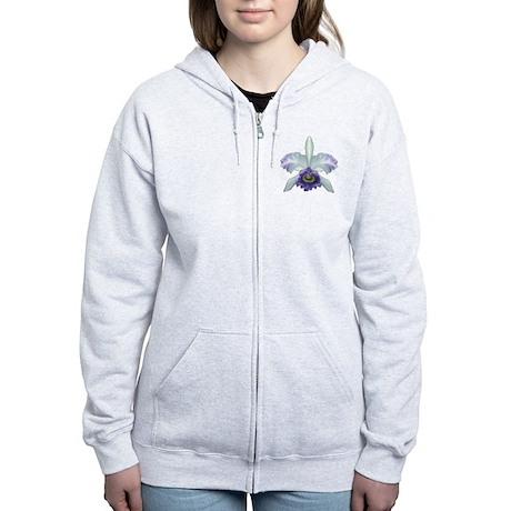 Blue Cat Orchid Women's Zip Hoodie