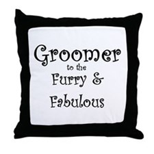 Funny Dog grooming Throw Pillow