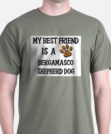 My best friend is a BERGAMASCO SHEPHERD DOG T-Shirt