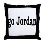 go Jordan Throw Pillow