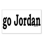 go Jordan Rectangle Sticker