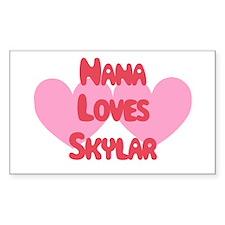Nana Loves Skylar Rectangle Decal