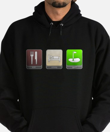 Eat, Sleep, Golf Hoodie (dark)