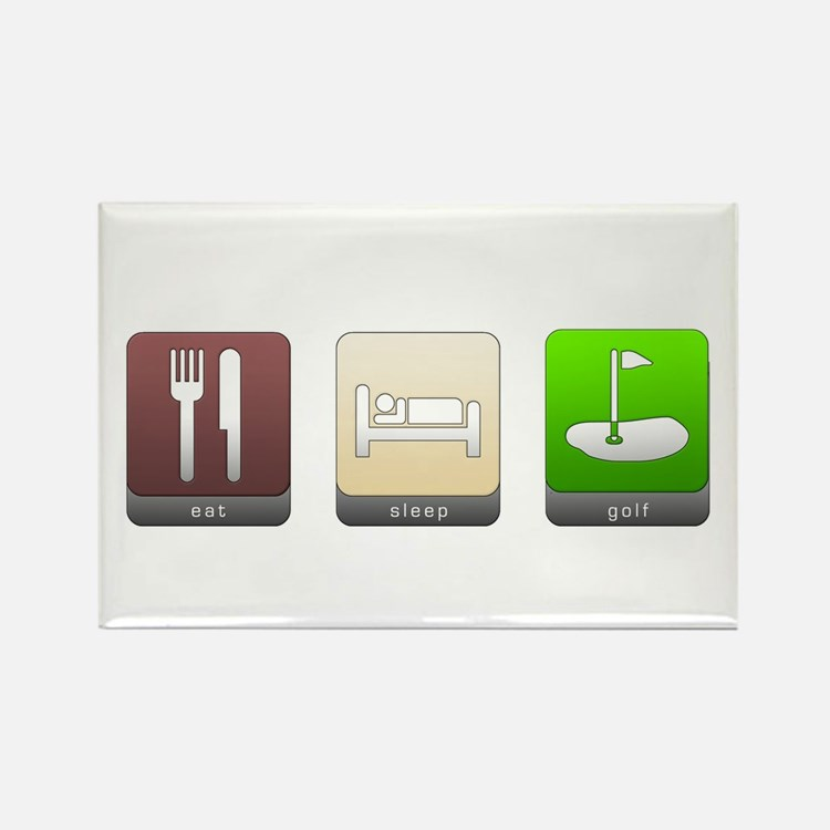 Eat, Sleep, Golf Rectangle Magnet