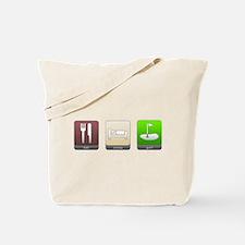 Eat, Sleep, Golf Tote Bag