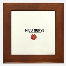 Unique Nicu nurse Framed Tile