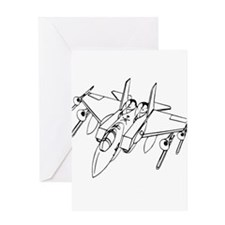 Trombone Jet Light Greeting Card