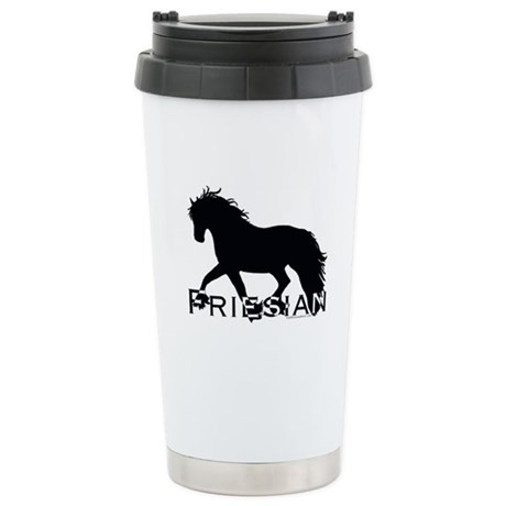Friesian Horse Stainless Steel Travel Mug