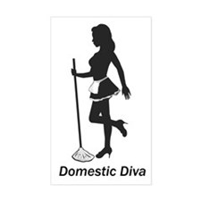 Domestic Diva Rectangle Decal