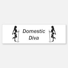 Domestic Diva Bumper Bumper Bumper Sticker