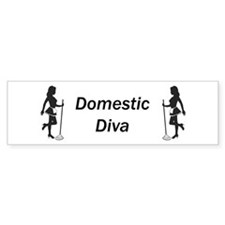 Domestic Diva Bumper Bumper Sticker