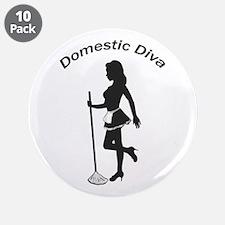 """Domestic Diva 3.5"""" Button (10 pack)"""