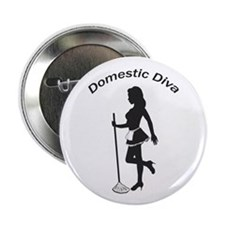 "Domestic Diva 2.25"" Button (10 pack)"