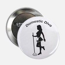 "Domestic Diva 2.25"" Button"