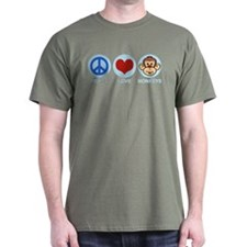 Peace Love Monkeys T-Shirt