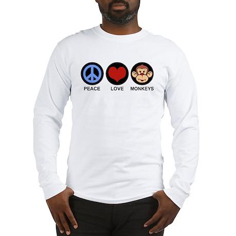 Peace Love Monkeys Long Sleeve T-Shirt