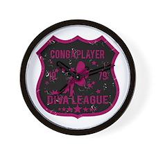 Conga Player Diva League Wall Clock