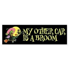 My Other Car Is a Broom Bumper Sticker (10 pk)