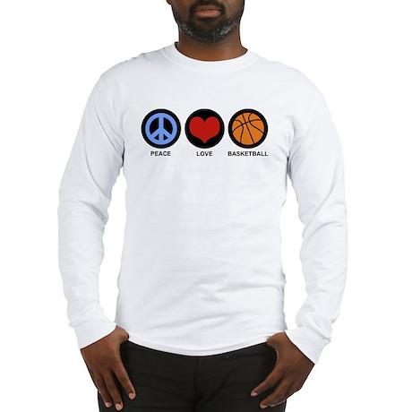 Peace Love Basketball Long Sleeve T-Shirt