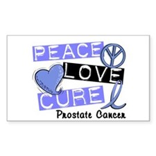 PEACE LOVE CURE Prostate Cancer Decal