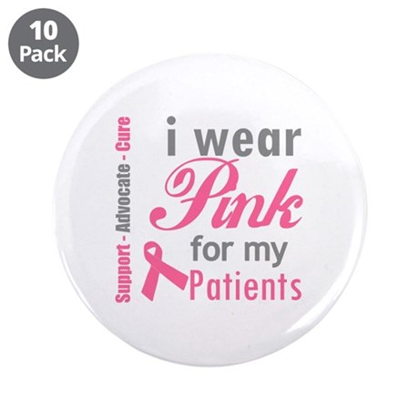 """I Wear Pink For My Aunt 3.5"""" Button (10 pack)"""