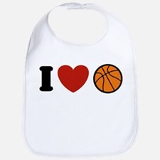 I Love Basketball Bib
