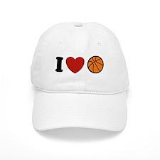 I Love Basketball Baseball Cap