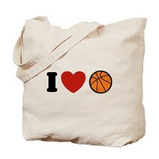 I Love Basketball Tote Bag