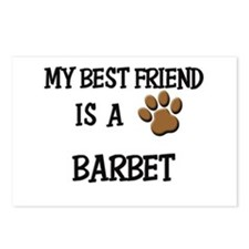 My best friend is a BARBET Postcards (Package of 8